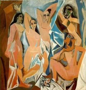"""Picasso, """"Les Demoiselles d' Avignon"""" (1907)"""